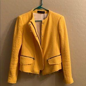 Zara Women Size Large Yellow Blazer